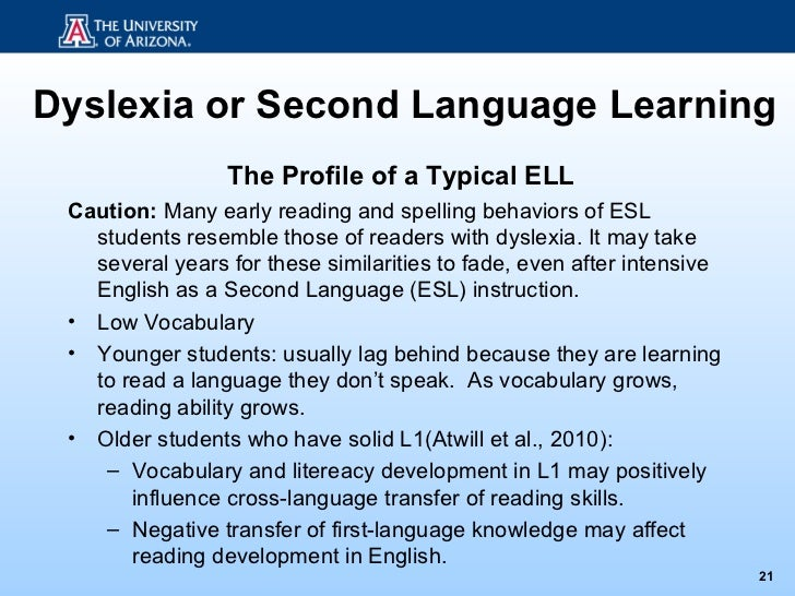 Learning english as second language essay