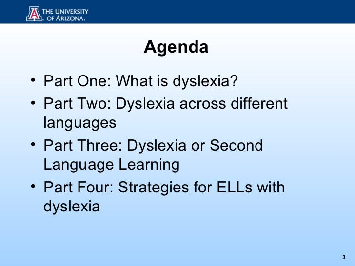 Dyslexia or Second Language Learning? Slide 3