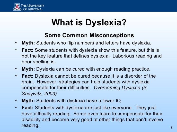 Tests for Dyslexia and Learning Disabilities