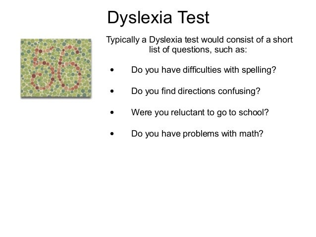 free online dyslexia screening test adults