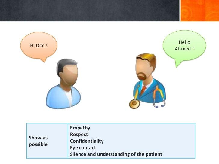 HelloHi Doc !                                                      Ahmed !           Empathy           RespectShow as     ...