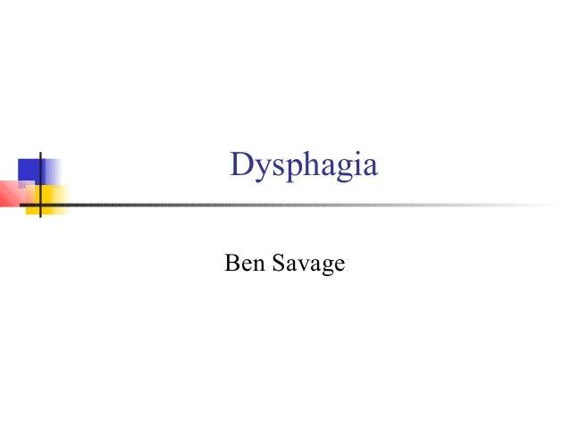 Dysphagia Ben Savage