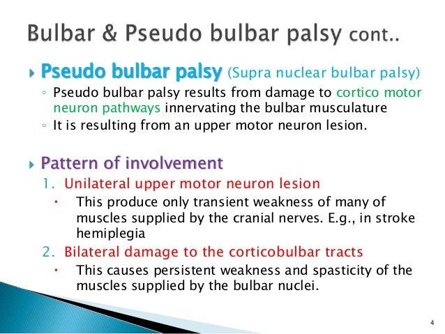 SYNDROME OF PSEUDOBULBAR PALSY: AN ANATOMIC AND ...