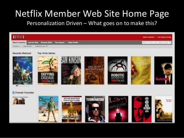 Netflix Member Web Site Home PagePersonalization Driven – What goes on to make this?