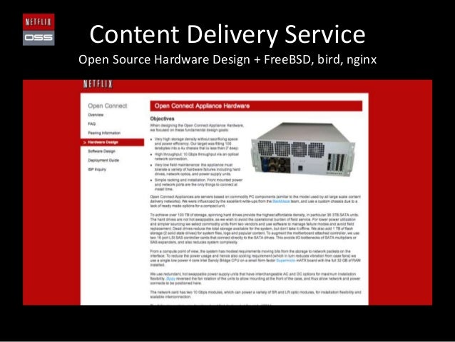 Content Delivery ServiceOpen Source Hardware Design + FreeBSD, bird, nginx