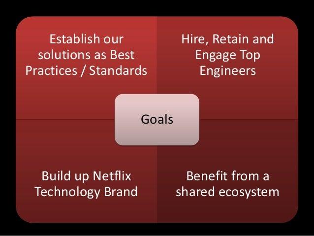 Establish oursolutions as BestPractices / StandardsHire, Retain andEngage TopEngineersBuild up NetflixTechnology BrandBene...
