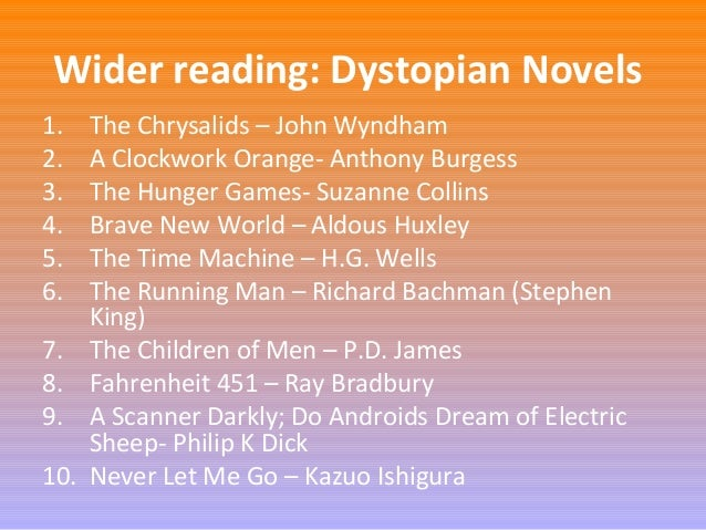 essays on      dystopia Dr  Dick Barnett