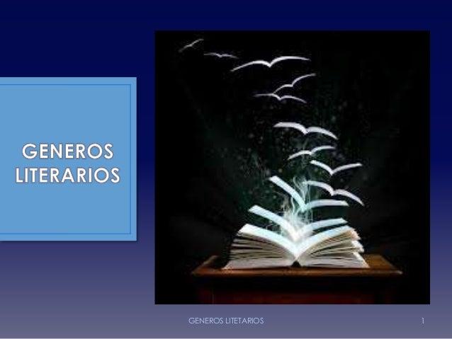 GENEROS LITETARIOS 1