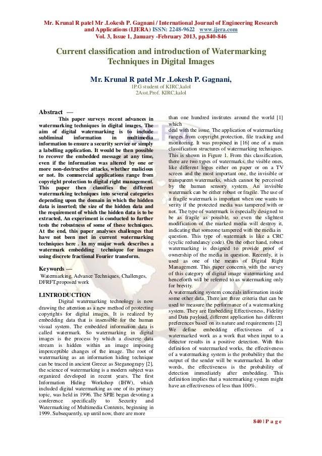 Mr. Krunal R patel Mr .Lokesh P. Gagnani / International Journal of Engineering Research                and Applications (...