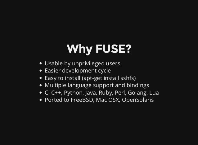 Writing flexible filesystems in FUSE-Python