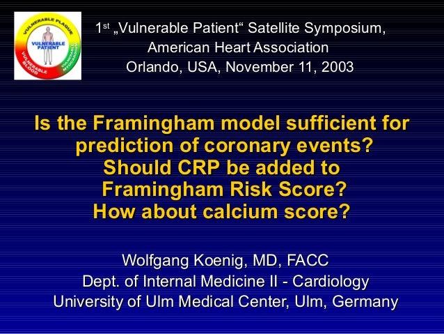Wolfgang Koenig, MD, FACCWolfgang Koenig, MD, FACC Dept. of Internal Medicine II - CardiologyDept. of Internal Medicine II...
