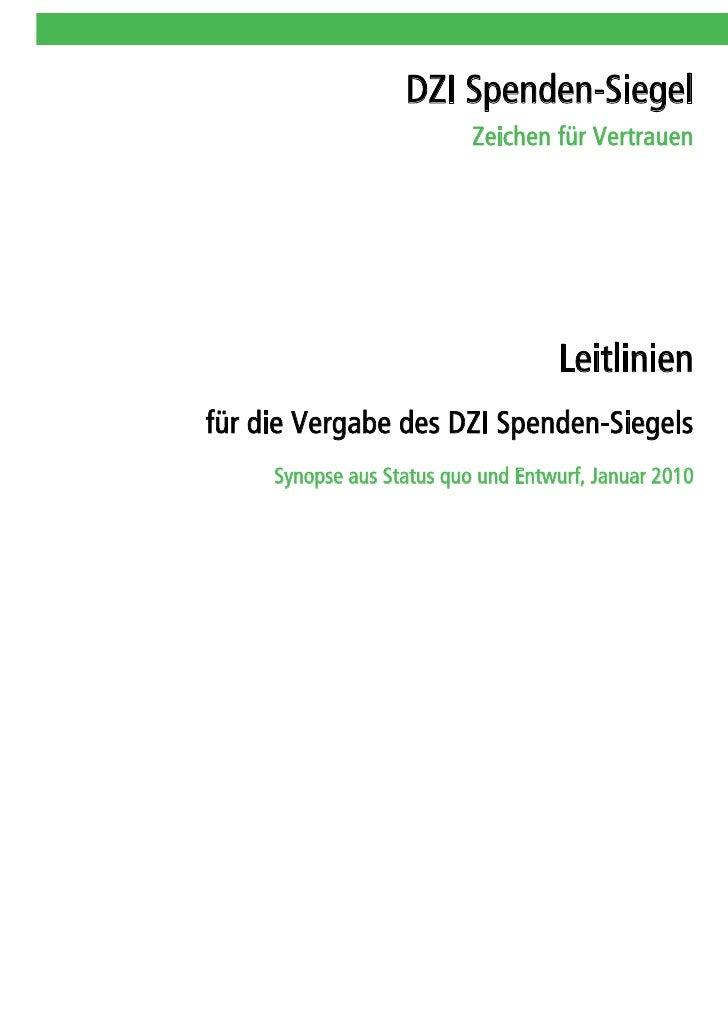 DZI Spenden-Siegel                            Zeichen für Vertrauen                                         Leitlinien für...