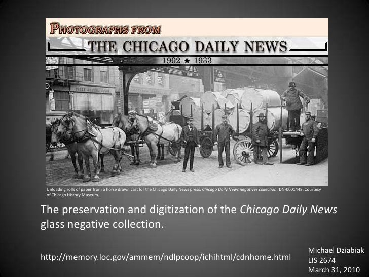Unloading rolls of paper from a horse drawn cart for the Chicago Daily News press. Chicago Daily News negatives collection...