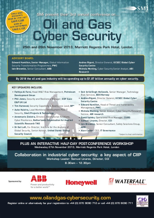 Smi Group S Oil Amp Gas Cyber Security Conference Amp Exhibition