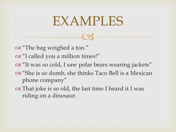 hyperbole examples in poems | Example
