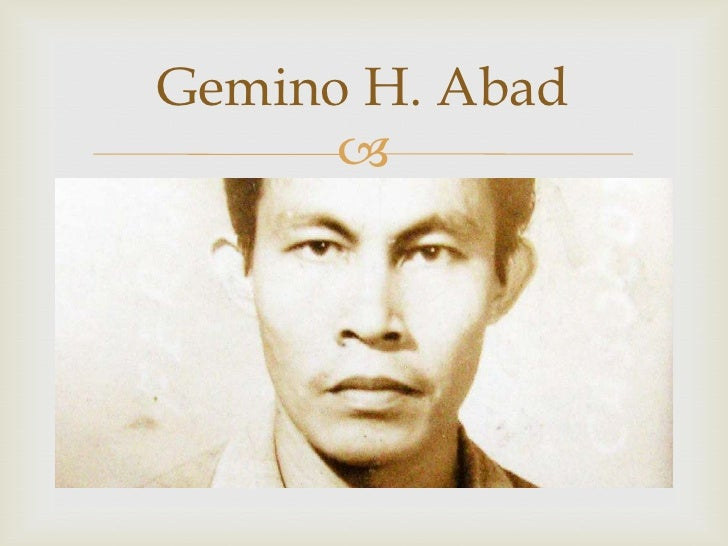 gemino abad Tags: gemino h abad, gemino h abad in poet's sanctum, interview with gemino abad, interview with gemino abad in gatheringbooks, premio feronia gemino abad 10 comments skip to comment form .