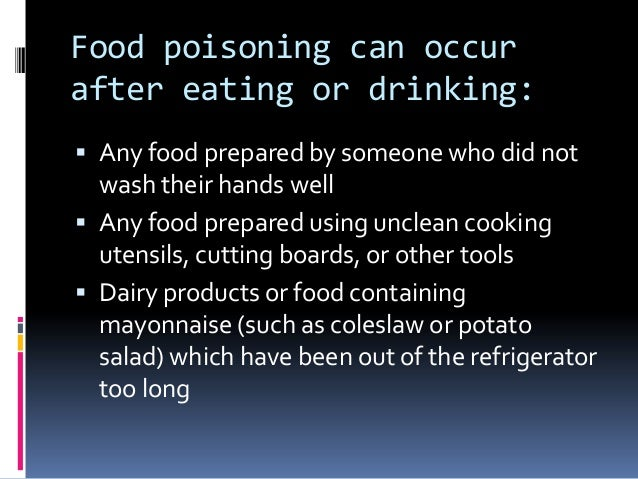 Food Poisoning After Eating Salad