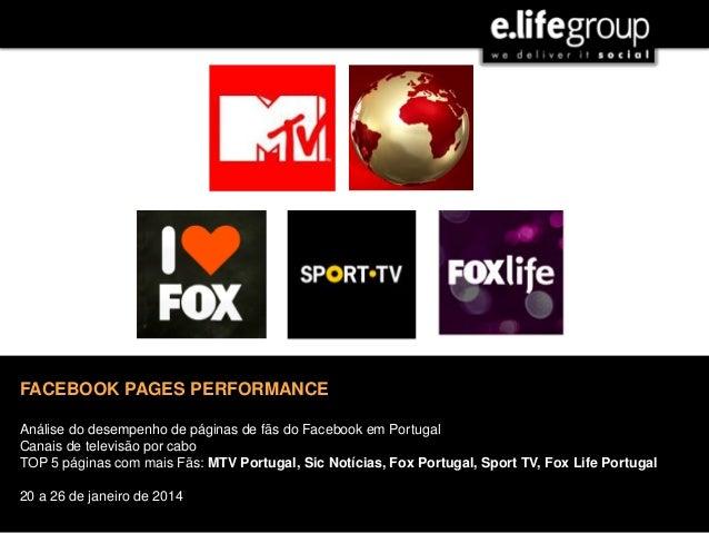 JULHO | 2013 FACEBOOK PAGES PERFORMANCE Análise do desempenho de páginas de fãs do Facebook em Portugal Canais de televisã...