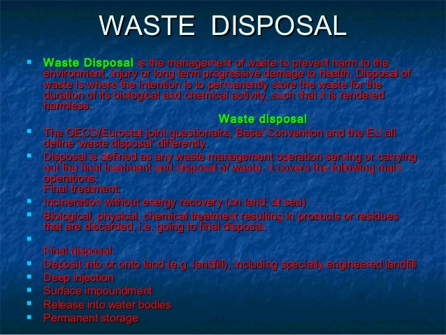 Improper Waste Disposal Essay