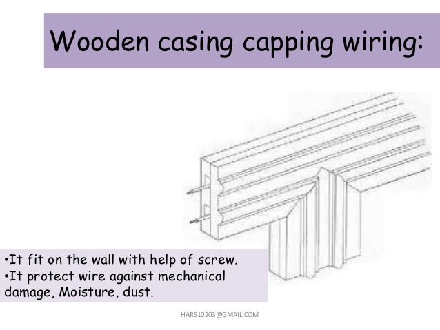 Wooden casing capping wiring: HARS10203@GMAIL.COM •It fit on the wall with help of screw. •It protect wire against mechani...
