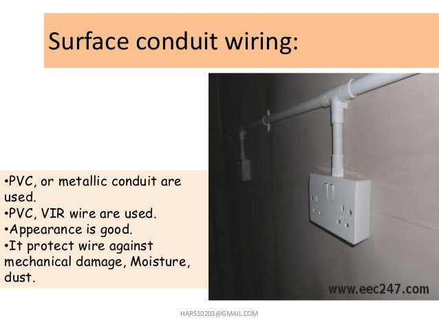 home wiring domestic wiring rh slideshare net surface mount wiring systems surface wiring system pdf