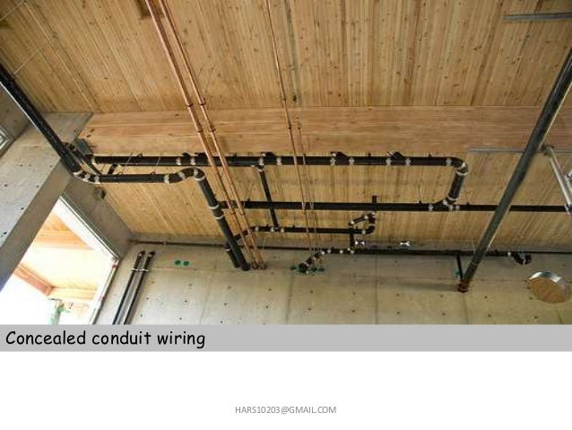 home wiring domestic wiring rh slideshare net PVC Conduit Wiring EMT Conduit Wiring