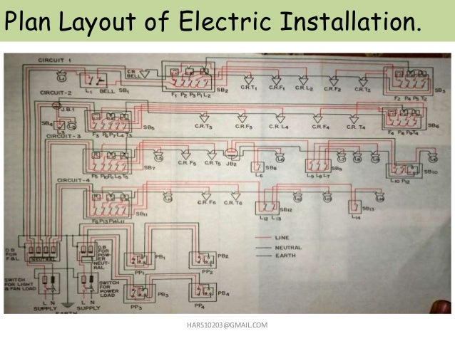 Plan Layout of Electric Installation. HARS10203@GMAIL.COM