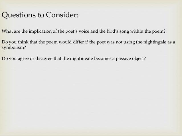 ode to a nightingale john keats presentation
