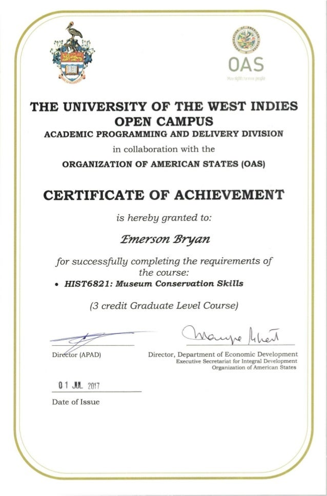 University Certificate: Museum Conservation Skills