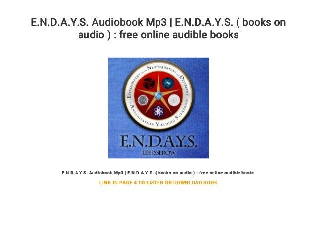 E N D A Y S  Audiobook Mp3 | E N D A Y S  ( books on audio ) : free o…