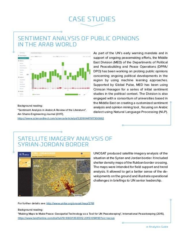 e-Analytics Guide CASE STUDIES SATELLITE IMAGERY ANALYSIS OF SYRIAN-JORDAN BORDER UNITAR - UNOSAT - Palais des Nations CH-...