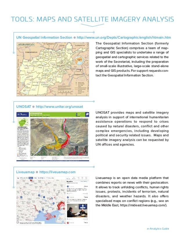 e-Analytics Guide The Geospatial Information Section (formerly Cartographic Section) comprises a team of map- ping and GIS...