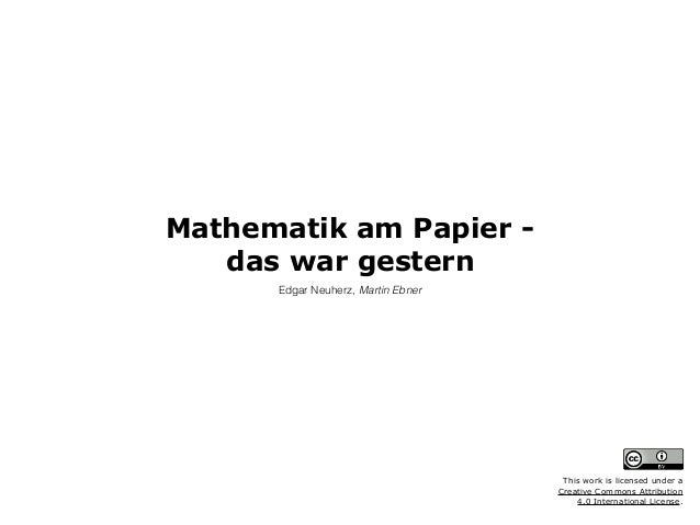 Mathematik am Papier - 