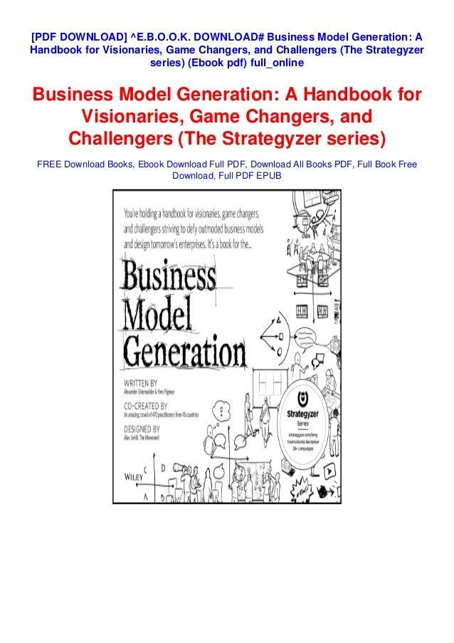 Business model generation pdf free download windows 10