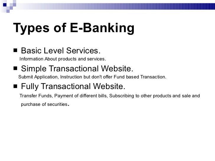 e banking services