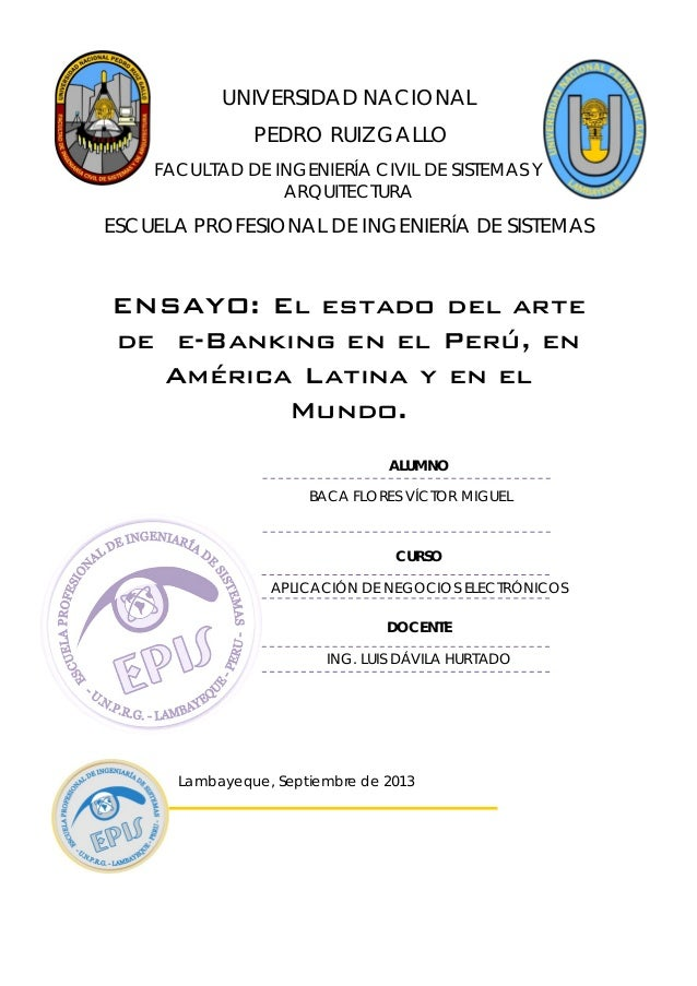 UNIVERSIDAD NACIONAL PEDRO RUIZ GALLO FACULTAD DE INGENIERÍA CIVIL DE SISTEMAS Y ARQUITECTURA ESCUELA PROFESIONAL DE INGEN...