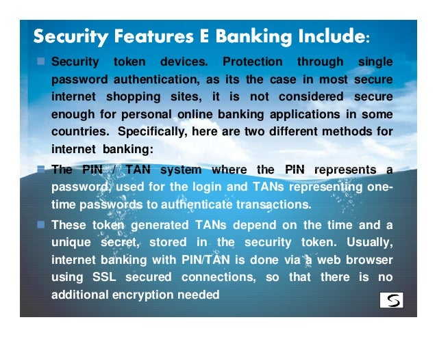 E BANKING FEATURES PDF
