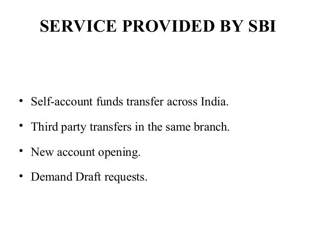 E Banking Service Of Sbi Bank