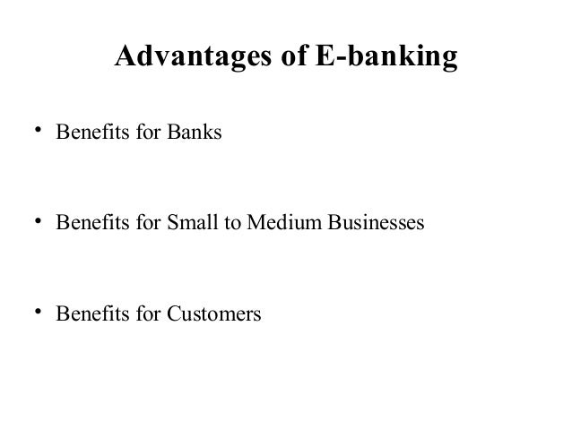 the positive effects of technological shift from standard banking to online banking A profound effect on the global financial services industry however, we had reflecting a sweetspot of technological comfort and relatively high economic activity mobile banking 2015 2 july 2015.
