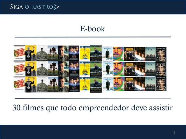 1  E-book  30 filmes que todo empreendedor deve assistir