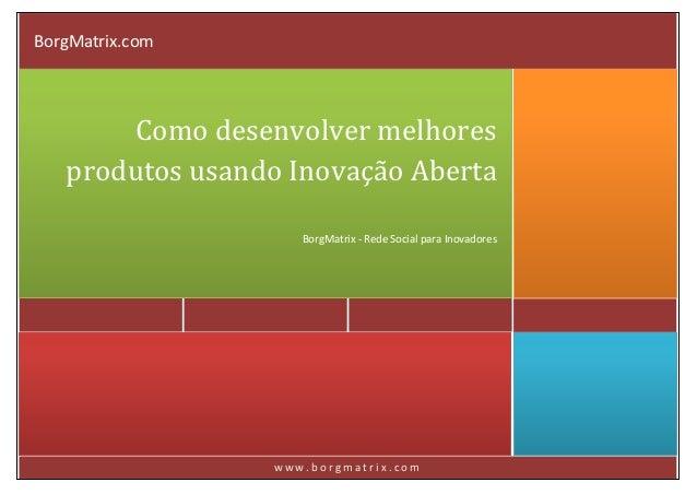 BorgMatrix.com       Como desenvolver melhores   produtos usando Inovação Aberta                    BorgMatrix - Rede Soci...