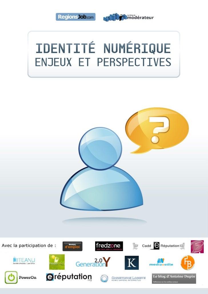Ebook Identité numérique, enjeux et perspectives
