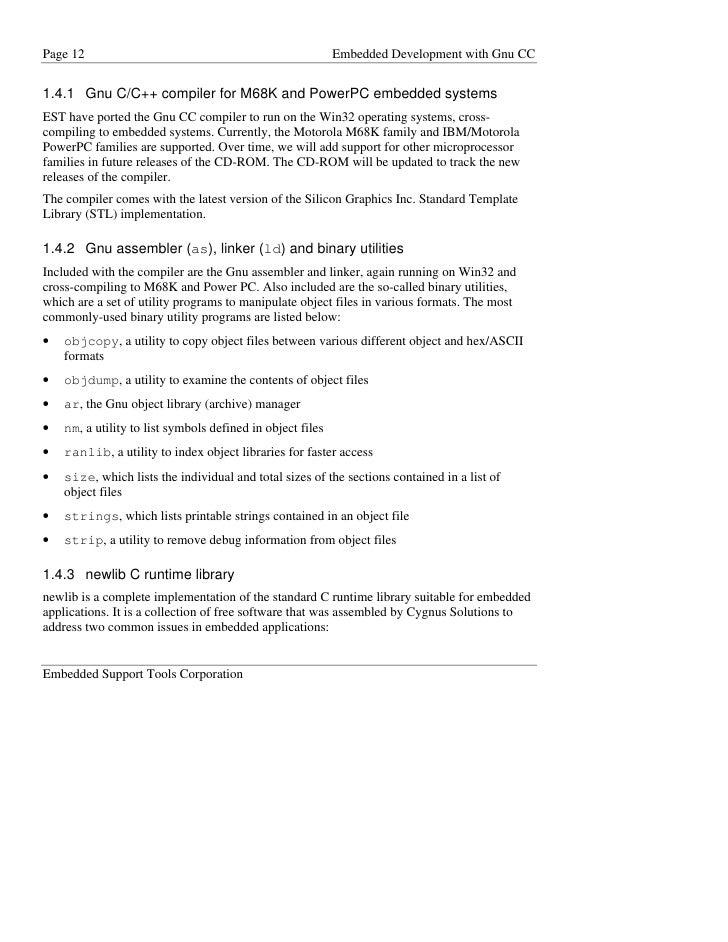 E Book Linux G C C X G C C The Gnu C C Language System