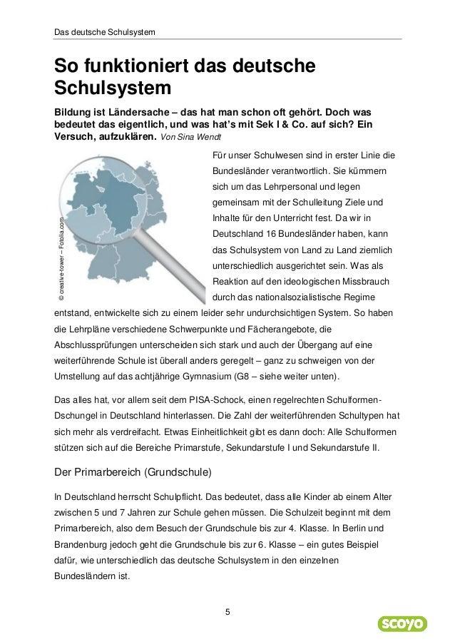 wie funktioniert das deutsche schulsystem