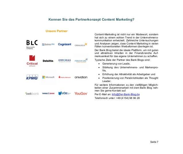 Seite 7 Kennen Sie das Partnerkonzept Content Marketing? Unsere Partner Content-Marketing ist nicht nur ein Modewort, sond...