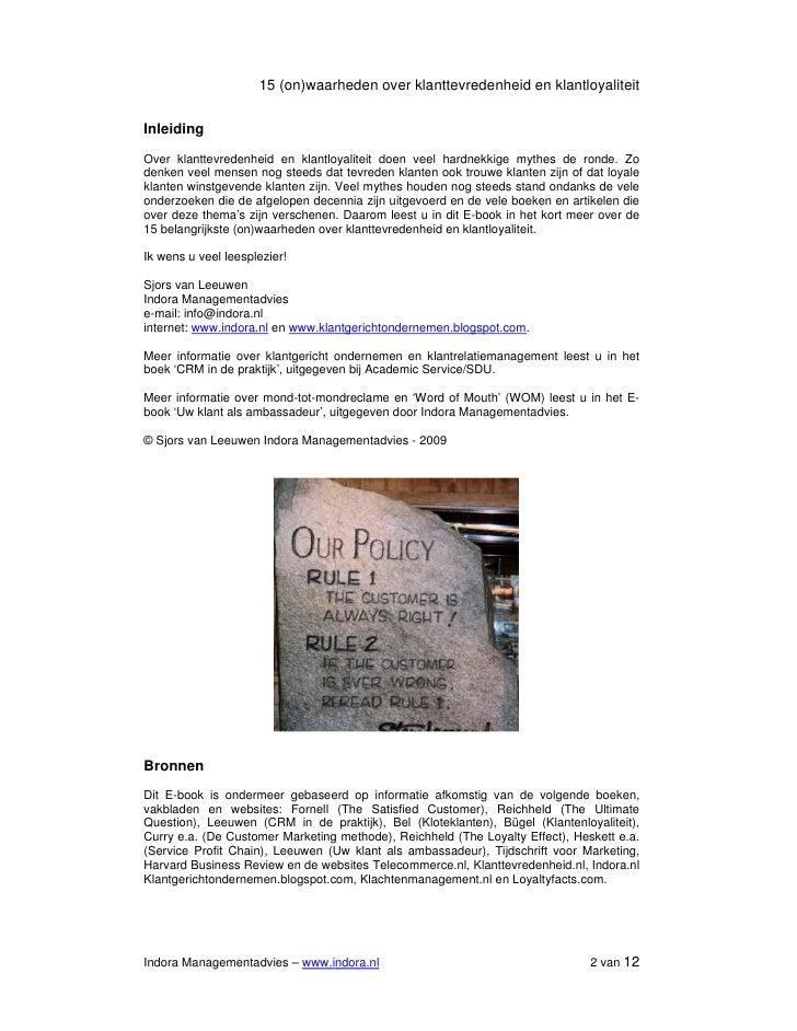E-book 15 CRM (on)waarheden over klanttevredenheid en loyaliteit Slide 2