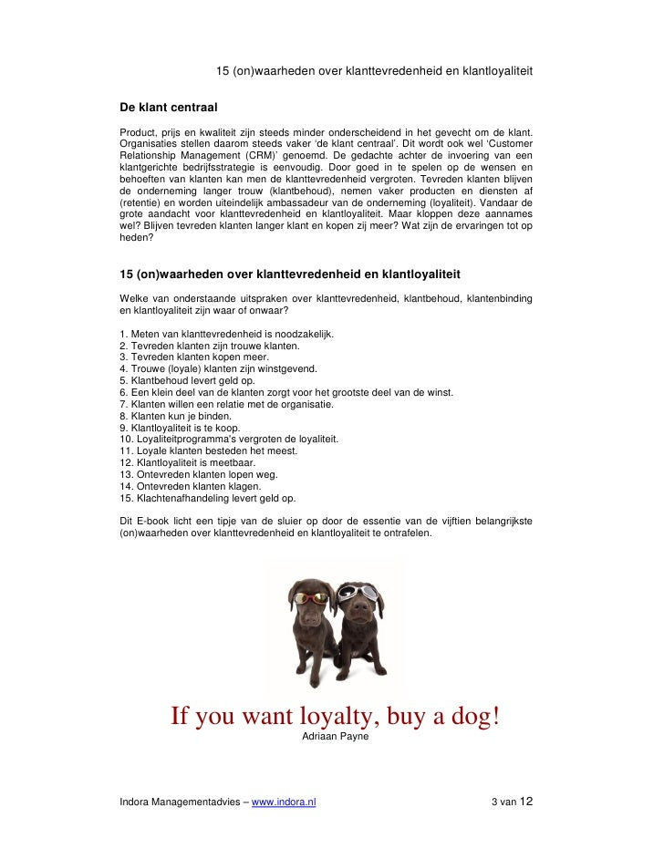 E-book 15 CRM (on)waarheden over klanttevredenheid en loyaliteit Slide 3