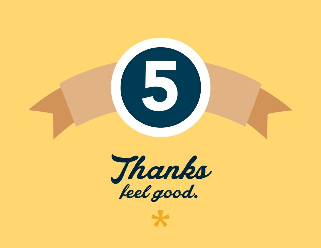5 Thanks feel good.