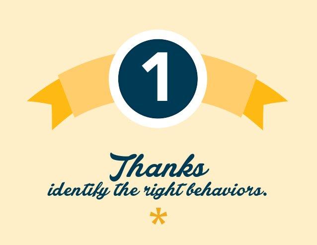 1 Thanks identify the right behaviors.