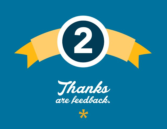 2 Thanks are feedback.